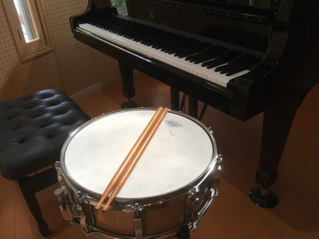 ピアノの脱力奏法を打楽器で体感
