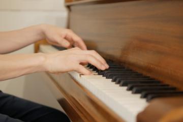 ピアノ演奏撮影・手元のアップ写真